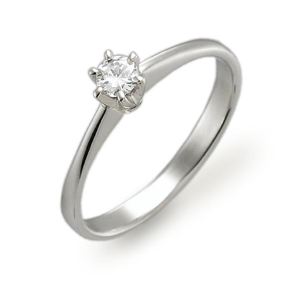 Świeże brylantowy styl - złoty pierścionek z brylantem 0,03 ct H/SI EU05