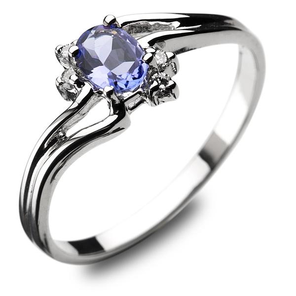 Zaawansowane Wyjątkowy złoty pierścionek z tanzanitem i brylantami WV21