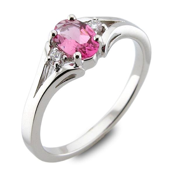 177a649c995ff7 Szafirowe róże - złoty pierścionek z różowym szafirem i brylantami