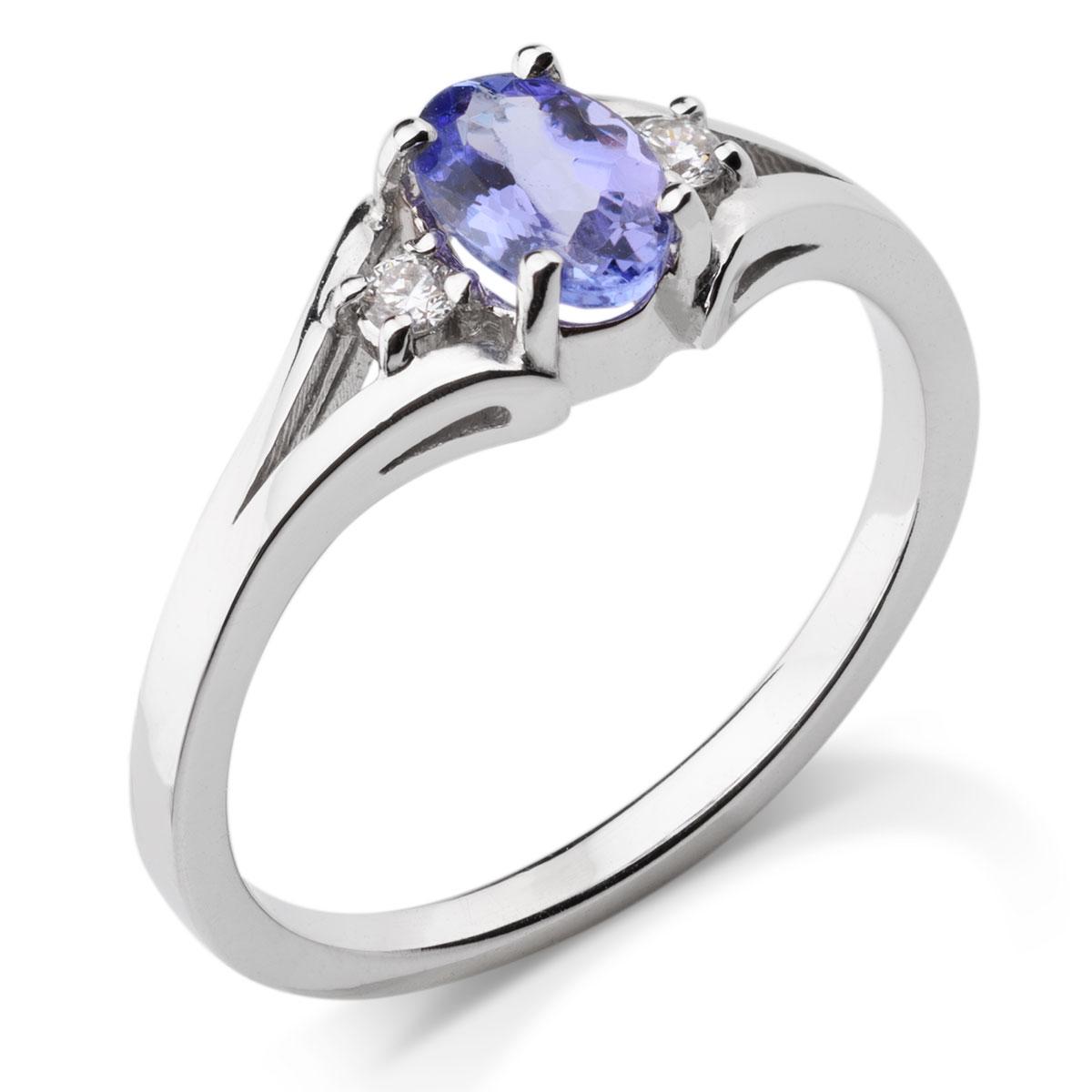 485791ffe7c6b5 Wyjątkowy złoty pierścionek z tanzanitem i brylantami