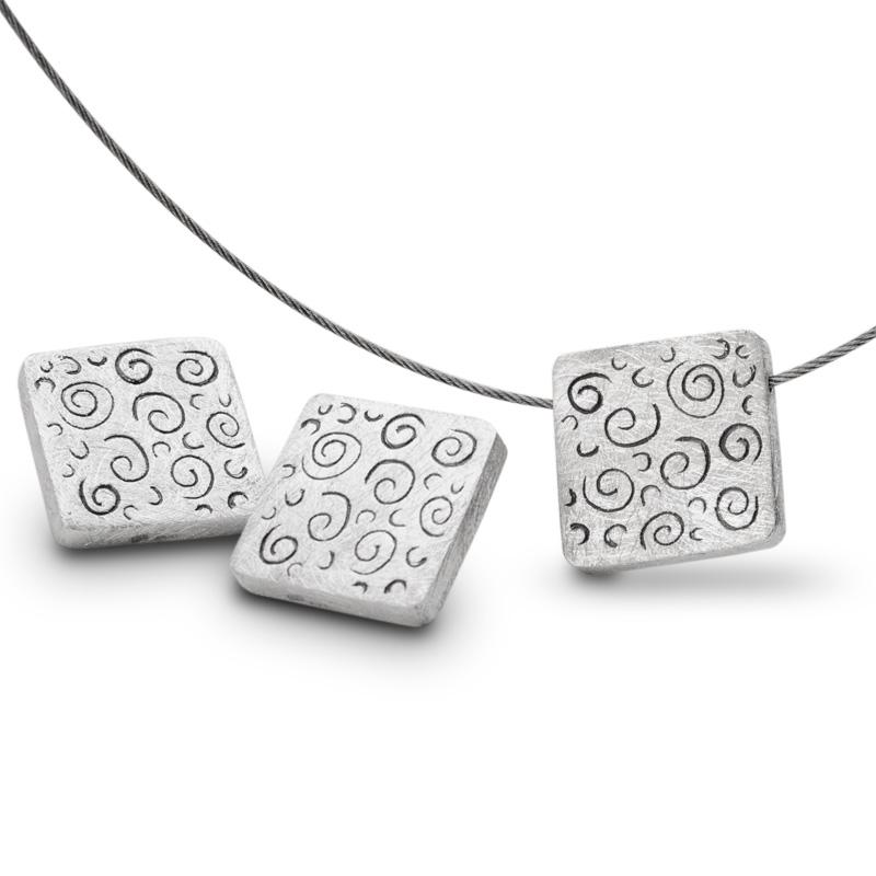 ef70130c9385d4 Zakręcony świat - naszyjnik i kolczyki ze srebra z oksydowanym ...