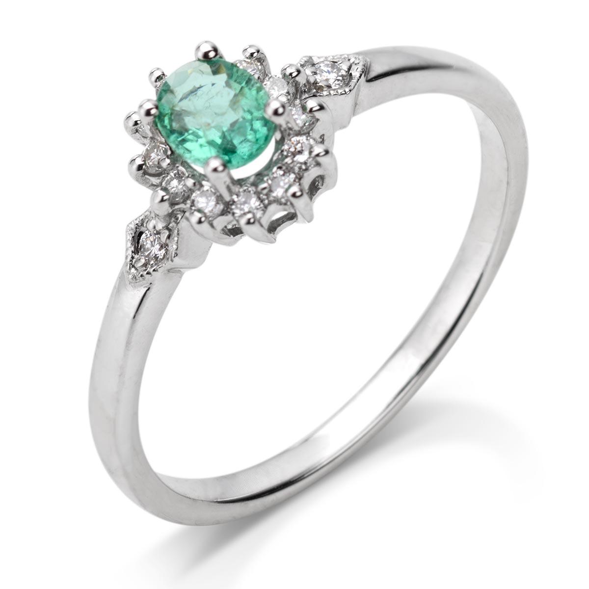 846439ba62c220 TY i JA razem, na zawsze - pierścionek zaręczynowy ze szmaragdem i ...