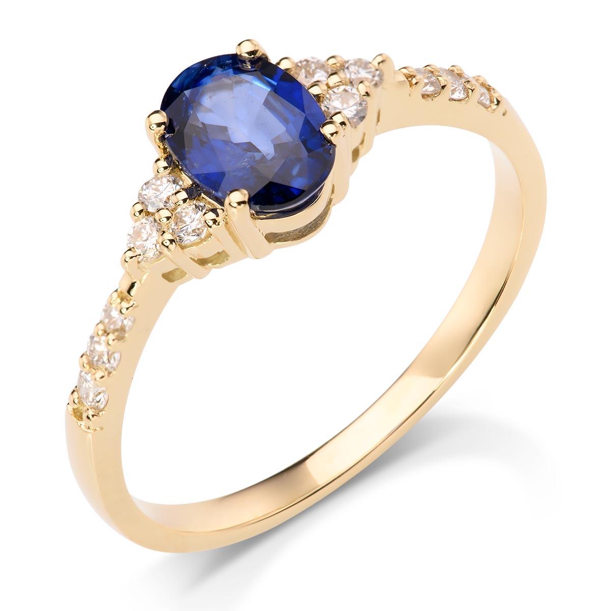 0f31a40b28651d Oszałamiający pierścionek z szafirem i brylantami - p_461_b