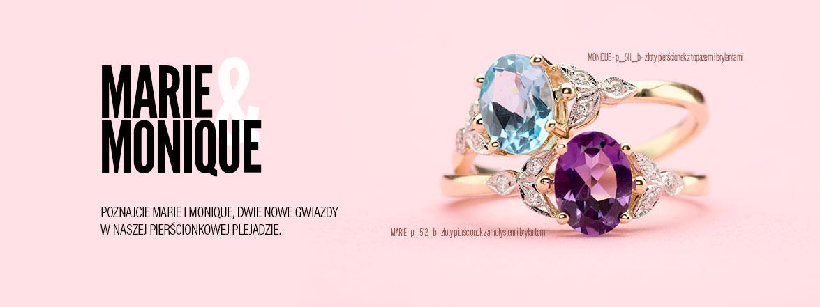 Nowe pierścionki z ametystem, topazem i brylantami. Na zaręczyny lub inne wspaniałe okazje.