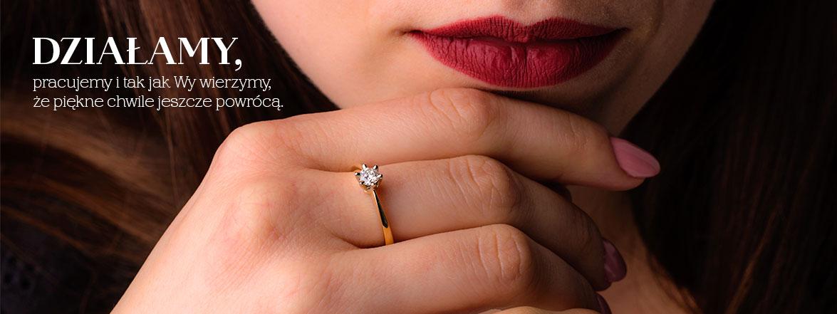 Biżuteria - złote pierścionki z brylantami, pierścionki zaręczynowe.